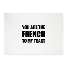 French To My Toast 5'x7'Area Rug