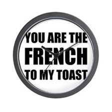 French To My Toast Wall Clock