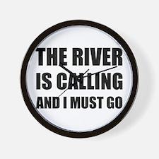 River Calling Must Go Wall Clock