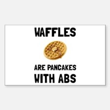 Waffles Abs Decal