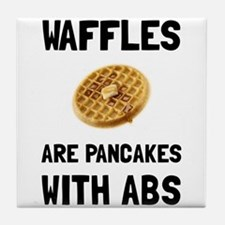 Waffles Abs Tile Coaster