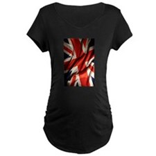 British Union Jack Flag Maternity T-Shirt