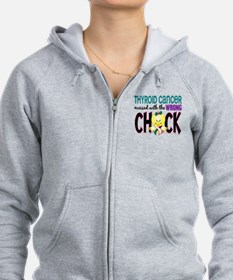 Thyroid Cancer MessedWithWrongC Zip Hoodie