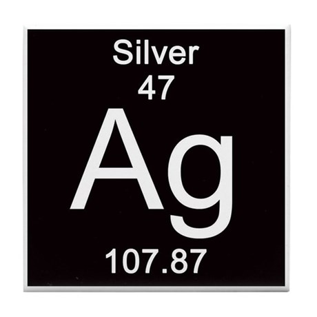 47. Silver Tile Coaster by Science_Lady