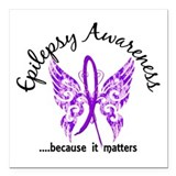 Epilepsy awareness Square Car Magnets