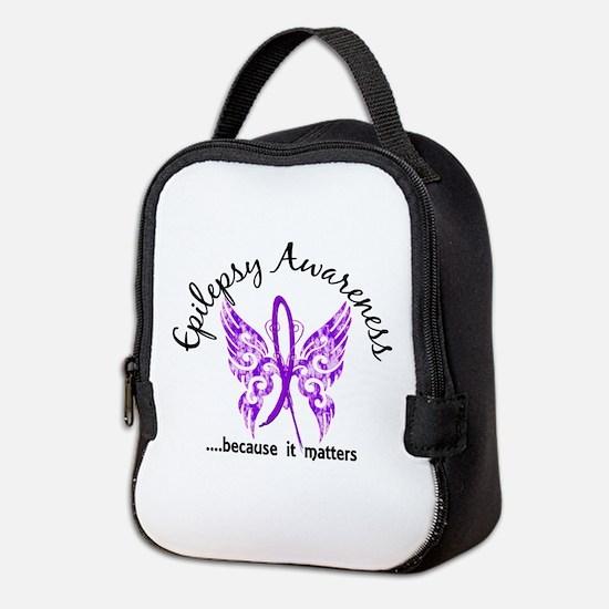 Epilepsy Butterfly 6.1 Neoprene Lunch Bag