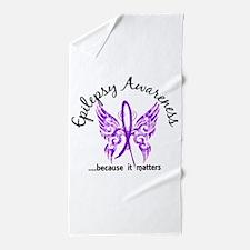 Epilepsy Butterfly 6.1 Beach Towel