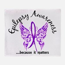 Epilepsy Butterfly 6.1 Throw Blanket