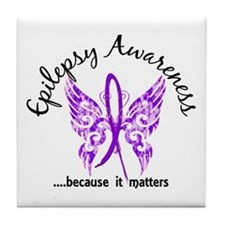 Epilepsy Butterfly 6.1 Tile Coaster