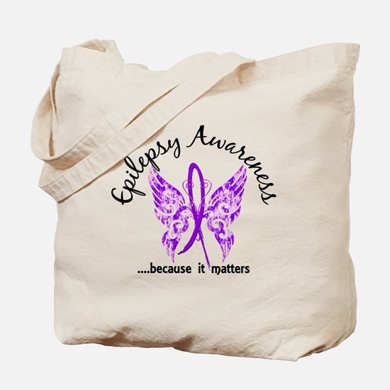 Epilepsy Butterfly 6.1 Tote Bag