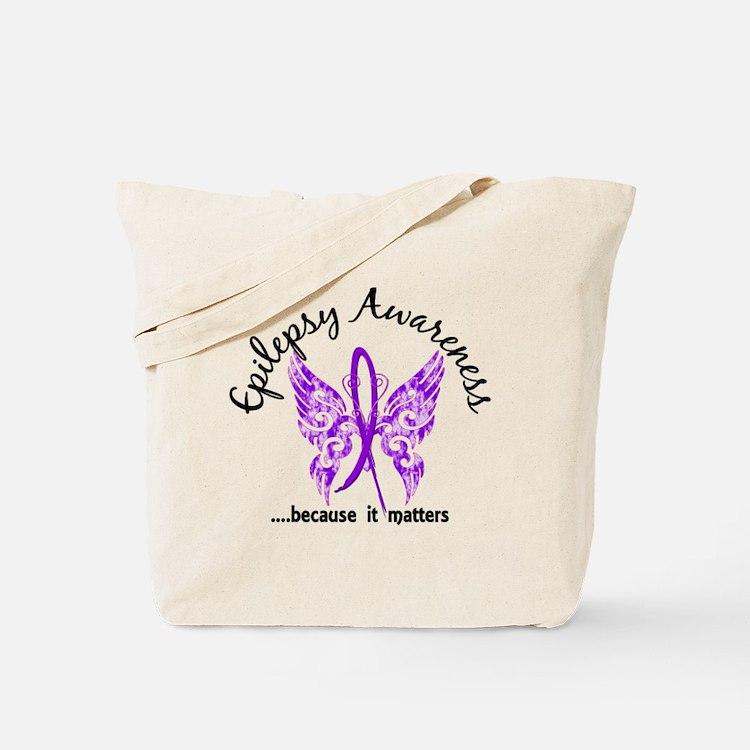 Epilepsy Butterfly 6.1 Tote Bag
