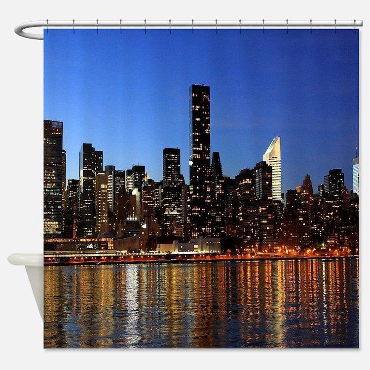 new york skyline shower curtains new york skyline fabric