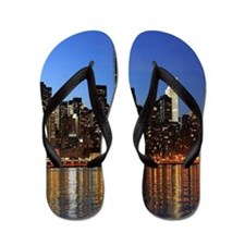 New York City Skyline Flip Flops