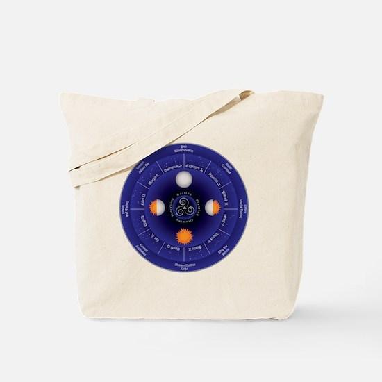 Zodiac Wheel of the Year Tote Bag