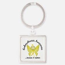 Endometriosis Butterfly 6.1 Square Keychain