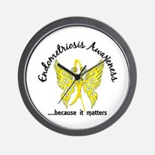 Endometriosis Butterfly 6.1 Wall Clock