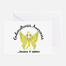 Endometriosis Butterfly 6.1 Greeting Card