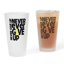 Ewing Sarcoma Motto Drinking Glass