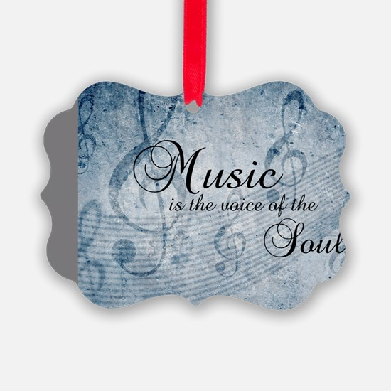 Music voice of the soul Ornament