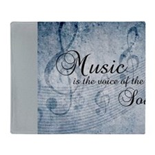Music voice of the soul Throw Blanket