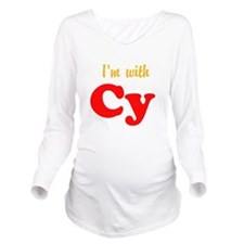 Im with Cy Long Sleeve Maternity T-Shirt
