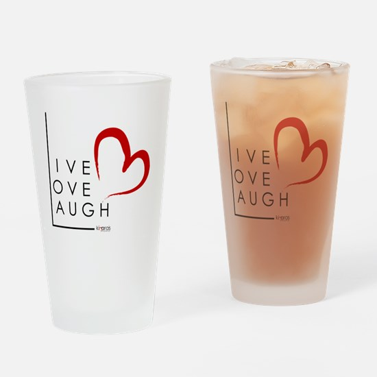 Live.Love.Laugh by KP Drinking Glass