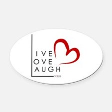 Live.Love.Laugh by KP Oval Car Magnet
