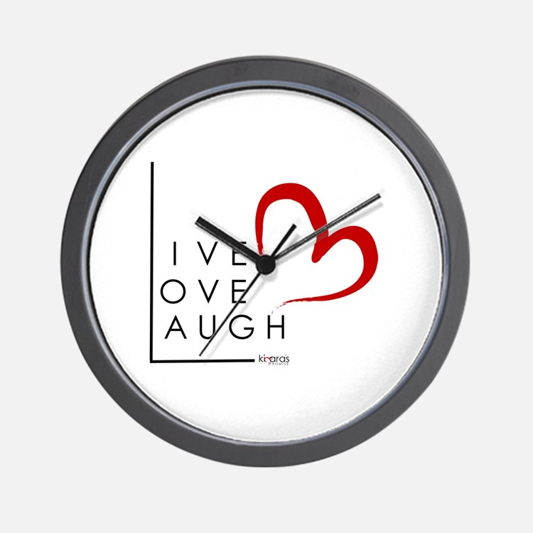 Live.Love.Laugh by KP Wall Clock