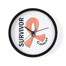 Endometrial Cancer Survivor 12 Wall Clock