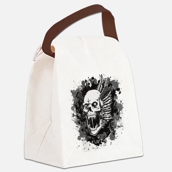 Skull VI Canvas Lunch Bag
