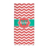 Kids orange personalized Beach Towels