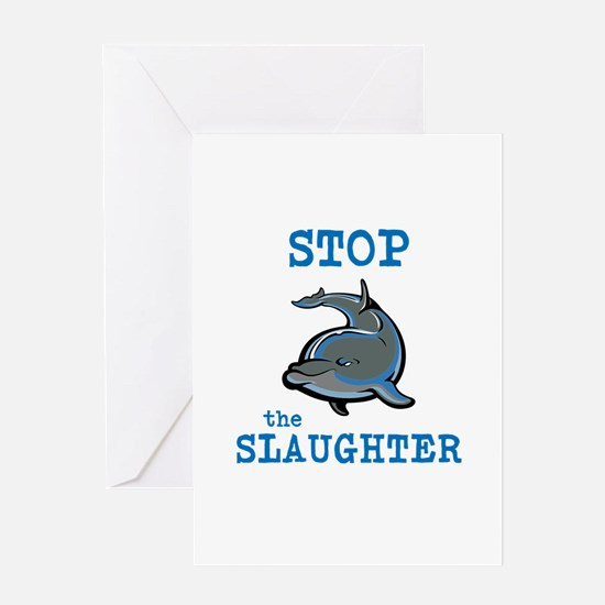 Dolphin Slaughter Greeting Cards