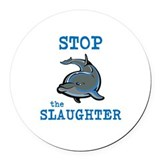 Stop killing dolphins Round Car Magnets