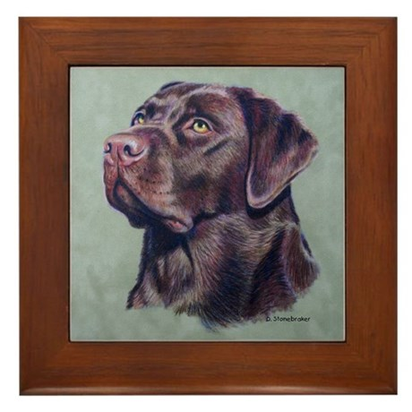 Hot Choc Lab Framed Tile