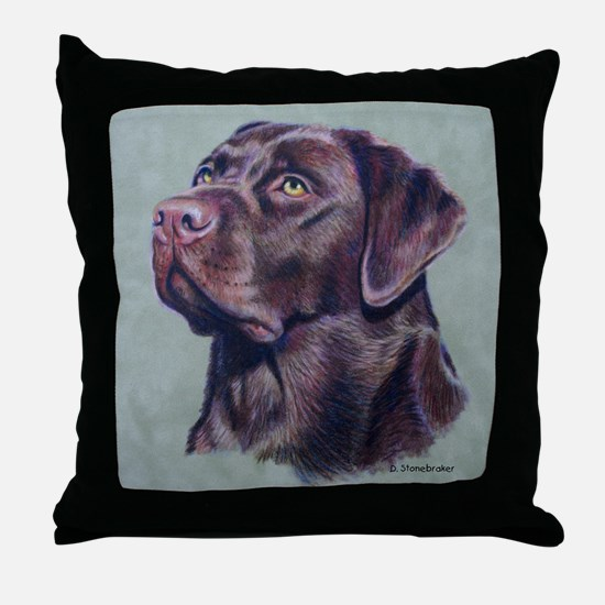 Hot Choc Lab Throw Pillow