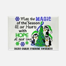 Holiday Penguins EDS Rectangle Magnet
