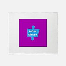 Practive Autism Altruism Blue Purple Throw Blanket