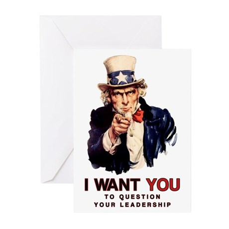 Question Your Leadership Greeting Cards (10 pk)