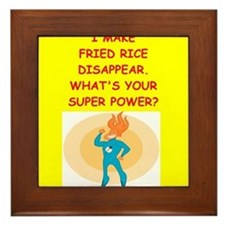 fried rice Framed Tile