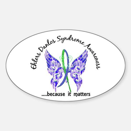 EDS Butterfly 6.1 Sticker (Oval)