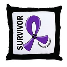Domestic Violence Survivor 12 Throw Pillow