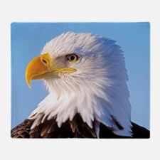 Bald Eagle Head Throw Blanket