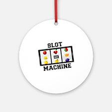 Slot Machine Tilt Ornament (Round)