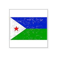 Djibouti Flag (Distressed) Sticker