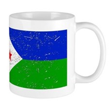 Djibouti Flag (Distressed) Mugs