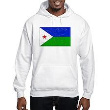 Djibouti Flag (Distressed) Hoodie
