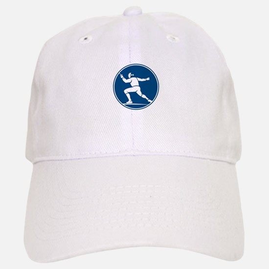 Fencing Side Circle Icon Baseball Baseball Baseball Cap