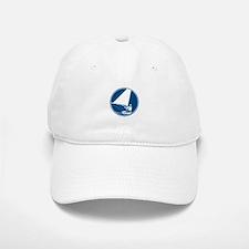 Sailing Yachting Circle Icon Baseball Baseball Baseball Cap
