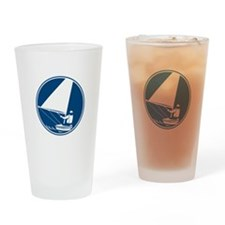 Sailing Yachting Circle Icon Drinking Glass