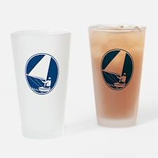 Sailing Yachting Circle Icon Drinking Glass